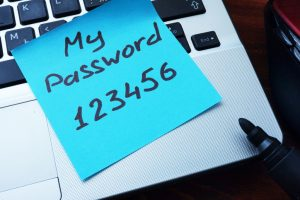 never use easy passwords
